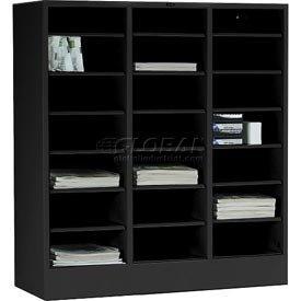 Literature Organizer Modular Storage Cabinet - Black