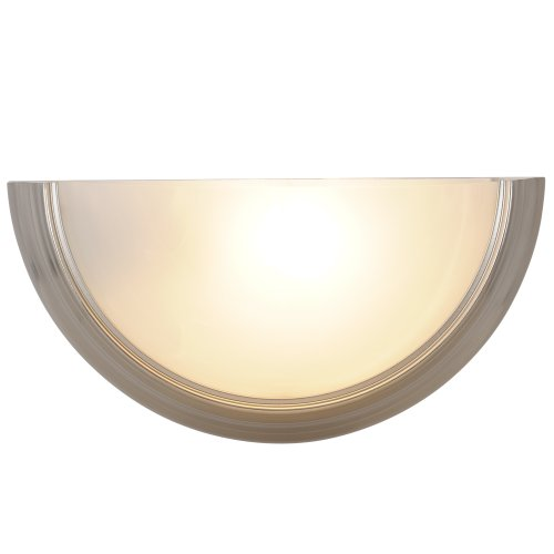 AF Lighting 617592 14-3/4-Inch W by 17-1/2-Inch H by 4-Inch E Lunar Bay Lighting Collection Wall Sconce, Brushed Nickel