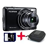 "Fuji JX370 black Digital Camera +4GB + Hard Case (Fujifilm Finepix 14MP 5x Optical Zoom 2.7"" LCD)by Fuji"