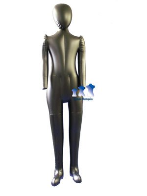 Inflatable Child Mannequin, Full-Size with head & arms, Matte Black