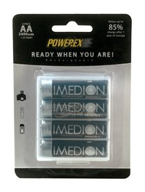 Imedion AA 2400mAh NiMH Rechargeable Batteries, 4-Pack