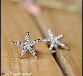 JC128 Flower Earrings, Starfish Earrings, Faux