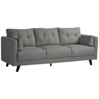Downtown Rio Light Gray Fabric 3-Seat Sofa