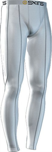 Skins Long Compression Tights White - size XL