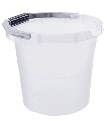 Eimer Haushalt SOFTLINE, Skaleneimer aus Kunststoff in transparent, Inhalt Eimer 10 Liter, ca. 32 x 29 x 27,5