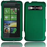 For Verizon HTC Trophy 6985 Accessory - Rubber Green Hard Protective Hard Case Cover