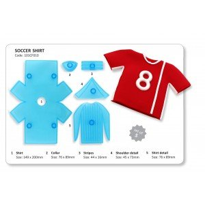 soccer shirts and trims sugarcraft cutters