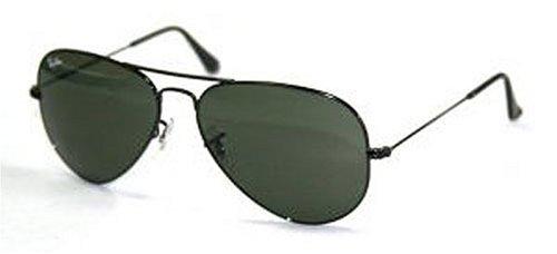 ba2a77c27a9 Ray Ban Sunglasses RB3025 L2823 Black Crystal Green (G-15XLT) 58mm ...