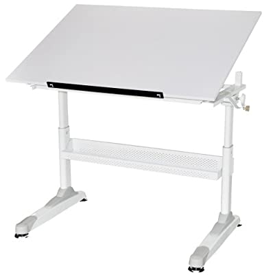 Martin Motor City Crank Drawing Table 30-Inch by 42-Inch Top