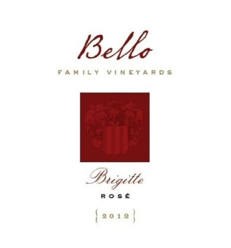 2012 Bello Family Vineyards Napa Valley Brigitte Rose' 750 Ml