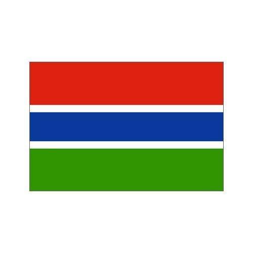 Bandiera Gambia 0,91 m x 1,52 m di poliestere