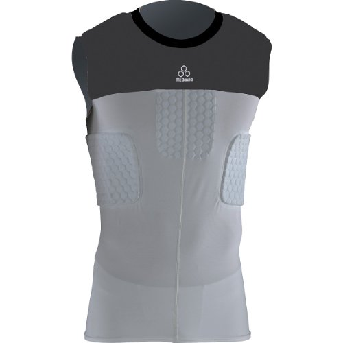 McDavid Hexpad Hexmesh Sleeveless 3 Pad Compression Body Shirt