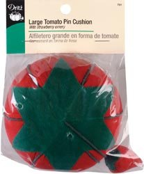 Dritz Large Tomato Pin Cushion With Emery Strawberry 731; 3 Items/Order