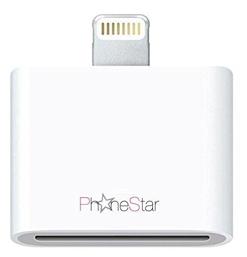 Original Phone Star 8- zu 30-polig Adapter Dockingstation Ladeadapter ohne Audioübertragung für iPhone 5s, 5c, 5, iPad Air, 4 & Mini, iPod Touch 5G, iPod Nano 7G in weiß
