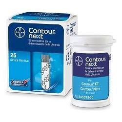Bayer Contour Next Strisce Reattive per Glicemia, 25 Pezzi