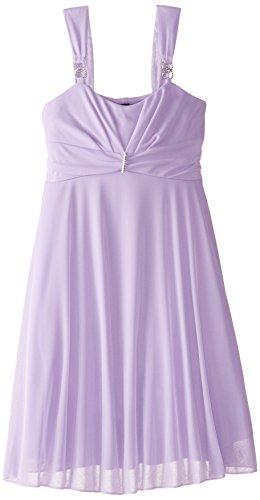 Ruby Rox Big Girls' Matte Jersey Dress with Jeweled Trim