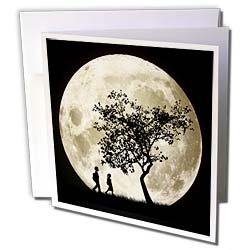 Full Moon Greeting Cards