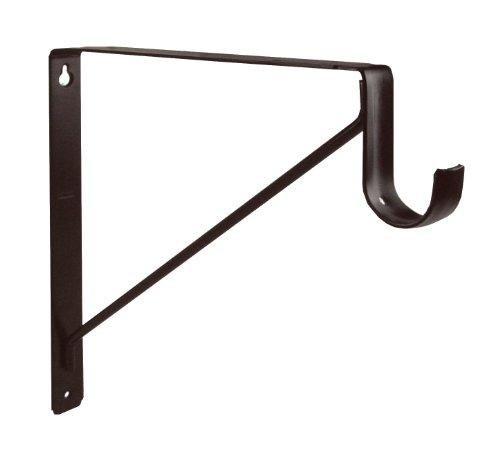 shelf brackets oil rubbed bronze shelf and closet rod support. Black Bedroom Furniture Sets. Home Design Ideas