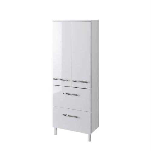 Held Möbel 219.2096 Unité de rangement en hauteur avec 1 placard à 2 compartiments et 2 tiroirs Blanc 25 x 130 x 27 cm