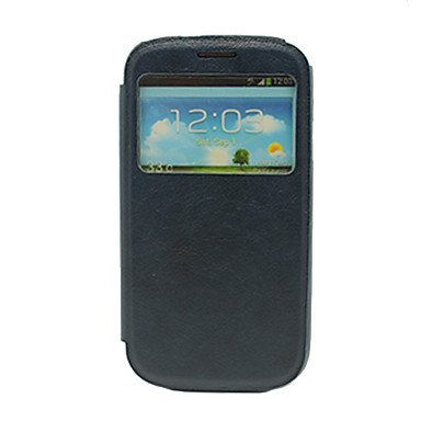 Hp Dfquality Sleep/Wake Up Pu Full Body Case With Call Display Window For Samsung Galaxy S3 I9300 , White