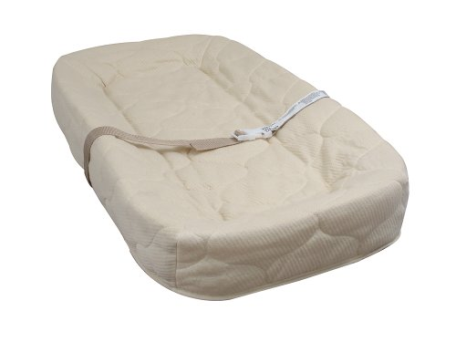 LA Baby 4 Sided Changing Pad, Ecru