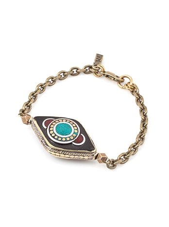 Vanessa Mooney Evil Eye Bracelet, Metal, One Size