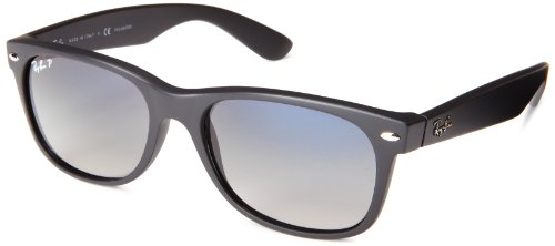 Ray-Ban 601S78 Wayfarer Polarized Sunglasses,Matte Black,55 mm