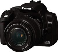 Canon EOS 350D Digital SLR Camera (Twin Lens Kit)
