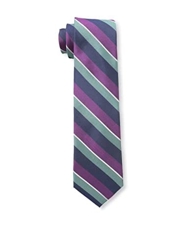 Ben Sherman Men's Amhurst Stripe Tie, Purple