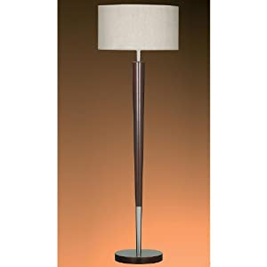 searchlight dark wood and satin silver floor lamp floor. Black Bedroom Furniture Sets. Home Design Ideas