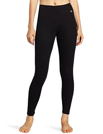 Duofold Women's Mid Weight Thermal Wicking Leggings, Black, Small