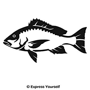 Red snapper decal sticker saltwater fish for Saltwater fishing decals