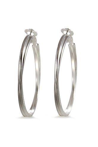 alexa-starr-5290-ep-s-two-row-round-edge-hoop-earrings-silvertone