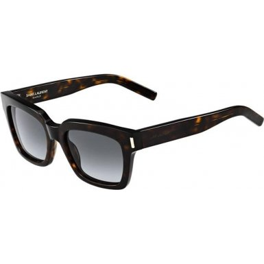 Yves Saint Laurent Yves Saint Laurent Bold 1/S Sunglasses-0086 Dark Havana (HD Gray Grad Lens)-54mm