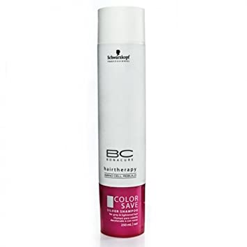 Schwarzkopf BC Bonacure Color Save Silver Shampoo for Grey & Pre-Lightened Hair 250ml/8.5oz