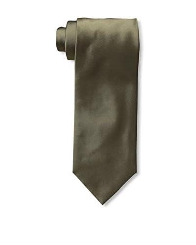 Valentino Men's Solid Silk Tie, Olive, One Size
