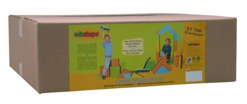 "Edushape 2.5"" Jumbo Textured Blocks, Set Of 16 Pieces Toys front-450275"
