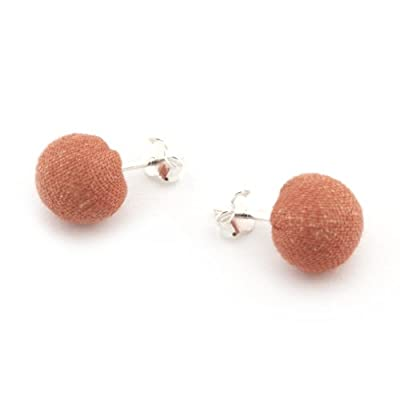 Textile Stud Earrings By The V&A Shop - Assorted Colours||EVAEX