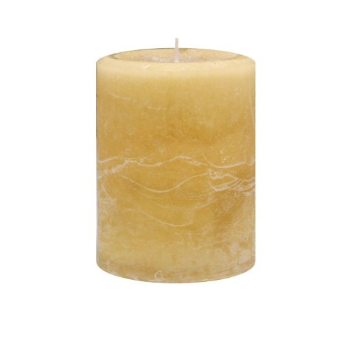 Kiera Grace Enlighten 3 by 4-Inch Pillar Candle, Thai Lemongrass Fragrance, Sage Green