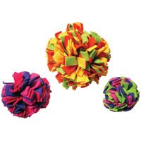 Fleecy Clean Ball Dog Toy – Small – 4 12 in.