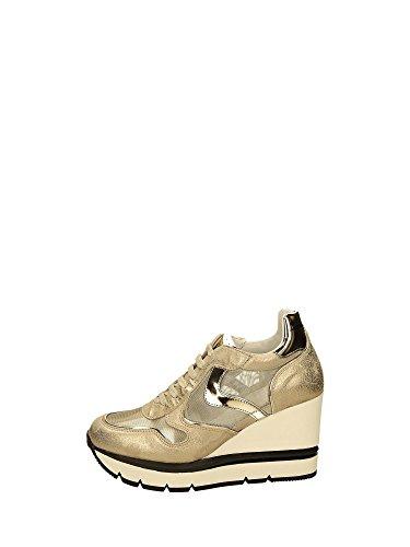 Voile Blanche JESSIE MESH Sneakers Zeppa Donna Platino 37