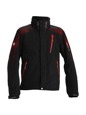 Descente Swiss World Cup Jacket - Black Electric Red Action G XL