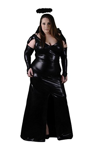 Delicate Illusions Plus Size Darkest Angel Womens Halloween Costume