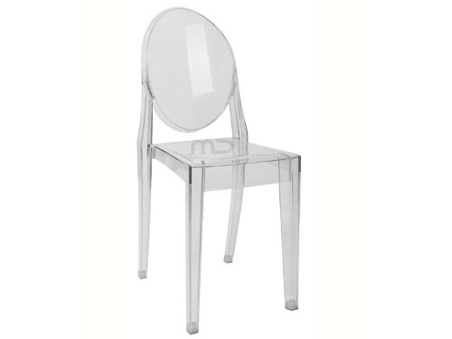 Louis Ghost Side Chair - Transparent Acrylic