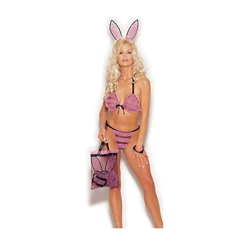 Sexy Costume: Sexy Blondes in Ruffle Bunny - Womens Sexy Bunny Costume Lingerie Outfits