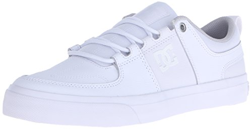 DC Men's Lynx Vulc Skate Shoe, White, 12 M US