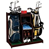 J.G. Hickory Wood Club/Bag Organizer-Walnut Finish