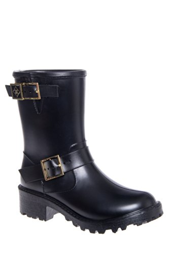 Dav Liverpool Motorcycle Low Heel Rain Boot