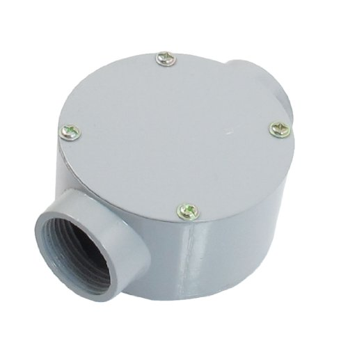 "G1"" Dia. Two Straight Hole Connecting Metal Round Water-Proof Junction Box"