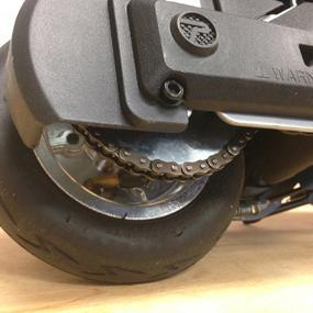 Pneumatic Rear Tire with Aluminum Hub
